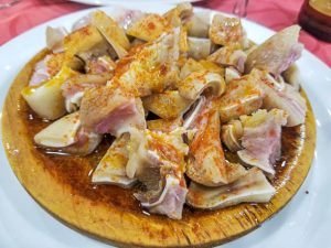 Orella a feira platos gallegos
